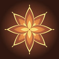Mandala decorative symmetry stylized flower Stock Photos