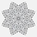 Mandala. Ethnicity round Greco Roman ornament. Ethnic style.