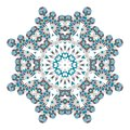 Mandala. Ethnicity round ornament. Ethnic style. Elements for invitation cards, brochures, covers.