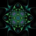 Mandala floral afilada Fotos de archivo