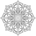 Mandala Flower outline
