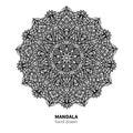 Mandala flower vector drawing. Decorative boho round ornament. Ethnic decorative element.