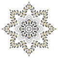 Mandala foliage Royalty Free Stock Photos