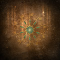Mandala freedom copper textured background with simple Stock Photography
