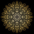 Mandala gold, tribal Royalty Free Stock Photo