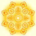 Mandala golden sun design Stock Photo