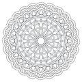 Mandala with hand drawn elements