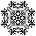 Mandala. Handmade, card.