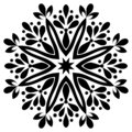 Black and white Vintage Beautiful Decor Mandala.