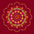 Mandala Jester Red Oriental Ornament