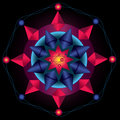 Mandala nucleus symmetrical geometry forming a or an abstract representation Stock Photography