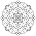 Mandala outline wedding, yoga