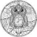 Mandala with owl