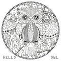 Mandala with owl