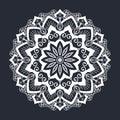 Mandala pattern black and white ornament