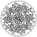 Mandala pattern decorative floral elements