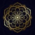 Mandala Pattern In Golden Thai Modern Art Style