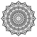 Mandala with pomegranates. Royalty Free Stock Photo