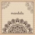 Mandala. Round Ornament Pattern. Beautiful ornament
