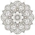 Mandala round ornament pattern vintage decorative elements Stock Photo