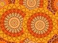 Mandala seamless pattern. Geometric pattern in Buddhist and Hindu style.