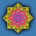 Mandala star Stock Photography