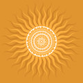 Mandala sun pattern indian decorative Royalty Free Stock Photo