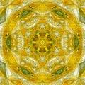 Sunny mandala symbol of luck and happiness