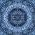 Mandala texture in bright blue colors. Royalty Free Stock Photo