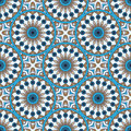 Mandala texture in bright colors. Seamless pattern on indian style. Abstract vector background