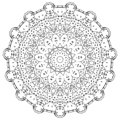 Mandala vector art, patterned flowers