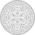 Mandala vector illustration. Round ornamental pattern.