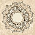 Mandala on vintage background Royalty Free Stock Photography