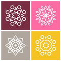 Mandala. Vintage decorative elements. Set of beautiful ethnic, oriental ornament Royalty Free Stock Photo