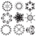 Mandalas on a white background (Vector) Stock Photography