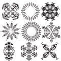 Mandalas on a white background (Vector) Royalty Free Stock Photography