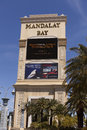 Mandalay bay sign in las vegas nv on april mayweather verses guerrero at the hotel may th Royalty Free Stock Photos