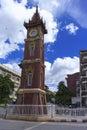 Mandalay clock tower summer of burma Royalty Free Stock Photo