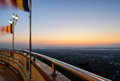 Mandalay hill at sunset myanmar panoramic view of from Stock Photography