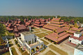 The mandalay palace mandalay myanmar Royalty Free Stock Images