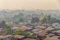 Mandalay panorama of the residential area near river irrawaddy myanmar Royalty Free Stock Image