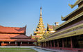 Mandalay Royal Palace, Myanmar Royalty-vrije Stock Afbeelding