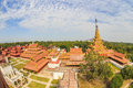 Mandalay royal palace, Myanmar bird eye view Royalty Free Stock Photo