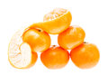 Mandarin citrus isolated tangerine mandarine orange in heap on white background healthy food concept Stock Photos