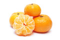Mandarin orange white background Stock Photography