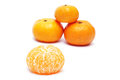 Mandarin orange white background Stock Image