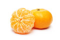 Mandarin orange white background Royalty Free Stock Photos