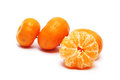 Mandarin orange white background Stock Images