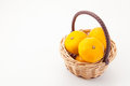 Mandarin oranges put in the basket this is a photograph of Royalty Free Stock Photography