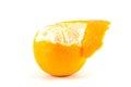 Mandarin or tangerine with peel on white background Stock Images
